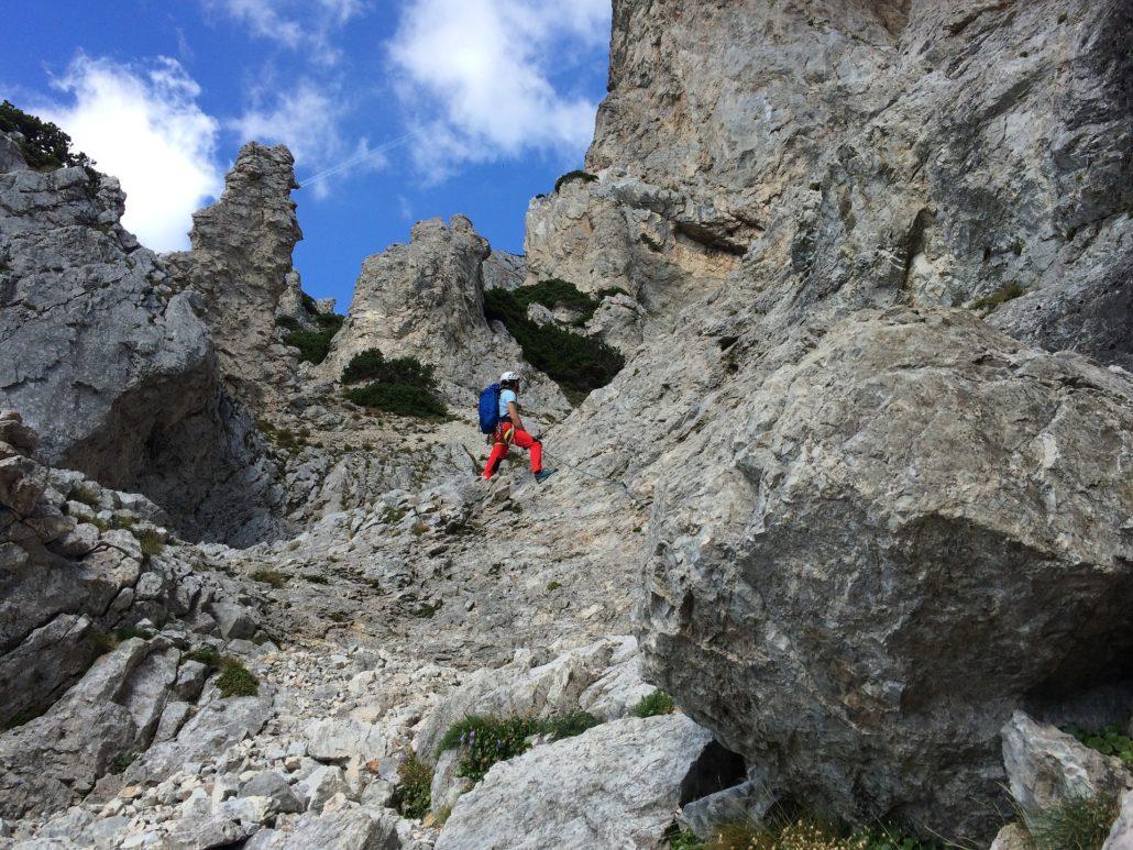 Klettersteig Austria : Bergtour porze Überschreitung klettersteig ost und austria steig
